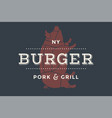 logo of burger bar vector image