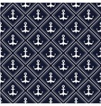 Nautical pattern with anchors vector image