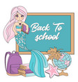 1 september mermaid school sea underwater vector image vector image