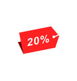 20 discount hang tag template vector image vector image