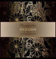 abstract background with flowers luxury black and vector image vector image