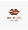 abstract tasty lips coffee logo icon template vector image vector image