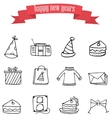 art of new year element icons vector image vector image