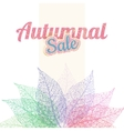 Autumnal sale background EPS 10 vector image