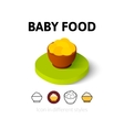 Baby food icon in different style vector image vector image