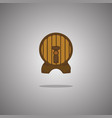 beer barrel isolated vector image