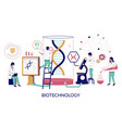 biotechnology laboratory flat style design vector image