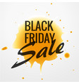 black friday sale design with yellow ink drop vector image vector image