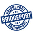 bridgeport blue round grunge stamp vector image vector image