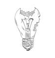 broken bulb vector image vector image
