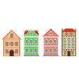 buildings old european houses colored set vector image vector image