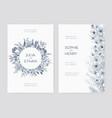 bundle of elegant wedding party invitation vector image vector image