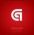 c and q initial logo c q initial monogram vector image vector image