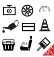 car part icon set 3 vector image vector image