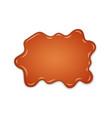 caramel drop realistic caramel flow liquid vector image vector image