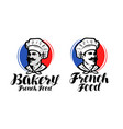 chef cook logo french food bakery symbol or vector image vector image