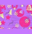christmas seamless pattern memphis vector image