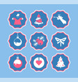 christmas stories icons story xmas vector image vector image