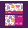 colorful cupcake party horizontal stripe frame vector image vector image