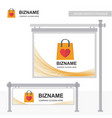 company ad banner design and card with orange vector image