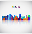dublin skyline silhouette in colorful geometric vector image vector image