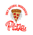 emblem template with pizza slice design element vector image vector image