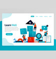 For learn well landing page learning well
