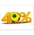 forty percent discount icon vector image
