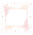 frame of grass fields in scandinavian style vector image vector image