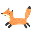funny running fox isolated element vector image vector image