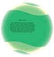 green sphere vector image vector image