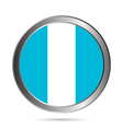 Guatemala flag button vector image