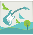 Guitar Fly landscape3 vector image vector image