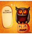 Halloween cute banner on the craft paper texture vector image