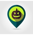 Halloween pumpkins mapping pin icon vector image vector image
