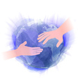 hands in watercolor style vector image vector image