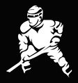 Hockey Player in Movement Mascot Silhouette vector image vector image