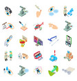 hospital icons set isometric style vector image vector image