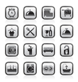 Hotel and motel icons vector image