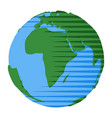 icon africa on globe for design natural vector image