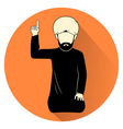 islamic prayer symbol vector image vector image