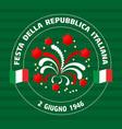 italian republic holiday vector image vector image