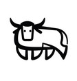 linear stylized drawing of bull ox or cow vector image vector image