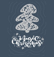 magic christmas calligraphy lettering text xmas vector image
