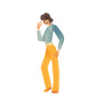 man dancing disco isolated vector image vector image