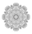 mandala doodle drawing round ornament ethnic vector image vector image