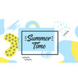 memphis style summer banner template vector image vector image