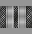 metal perforated texture with vertical iron plates vector image vector image
