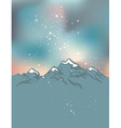 Milky Way over the Himalayan peaks Mountains at vector image