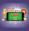 mobile gambling poster banner design vector image vector image